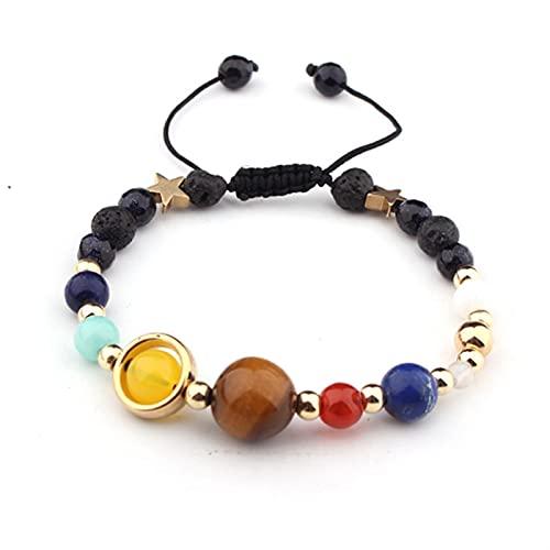 JKLJKL Bracelets Pulsera Ajustable Pulsera de Piedra Natural Regalo de Las Cuentas Pulsera (Metal Color : B6041)