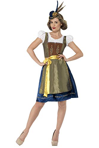 Smiffy's 44446L - Traditioneel Deluxe Heidi Beierse kostuum met dress en schort