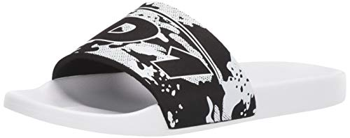 AND 1 Men's ICON Slide Sandal, Black camo/White, 7 M US