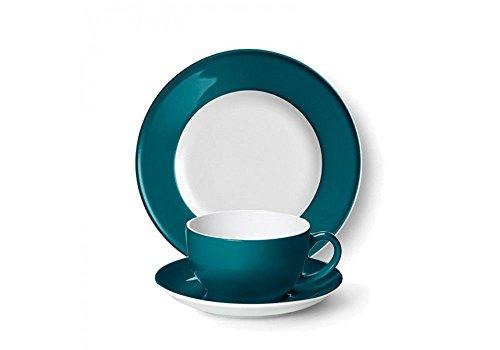 Dibbern SONDERAKTION Solid Color - Kaffeetasse 0,25 l m.U. + Teller flach 21 cm - Petrol - NEU