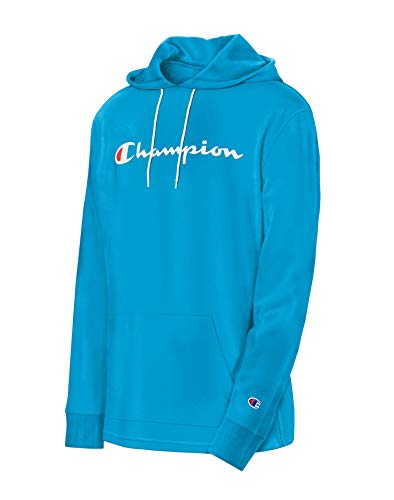 Champion Men's MIDDLEWEIGHT Hoodie, Deep Blue Water, Large