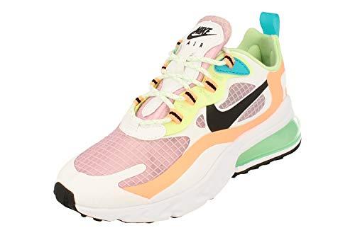 Nike W Air MAX 270 React Se, Zapatillas para Correr Mujer, lt Arctic Pink/Black-Orange Pulse-White, 42 EU