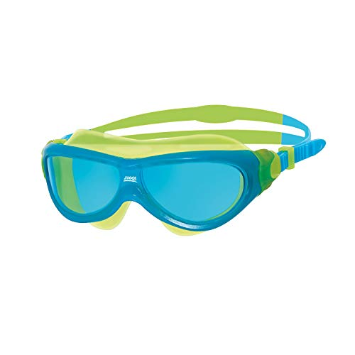 Zoggs Kinder Schwimmbrille Phantom Jnr Mask, Blue/Yellow/Tint, One Size, 304449