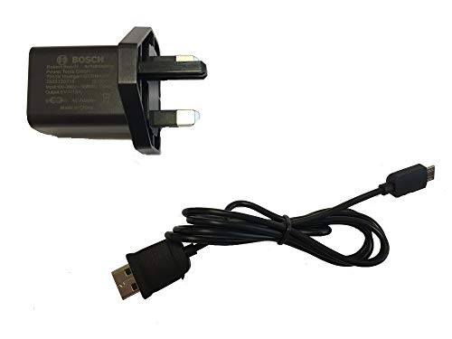 Bosch Charger (Version to Fit: Bosch Glass Vac Cordless Window Cleaner) c/w Stanley KeyTape (Image Shown)