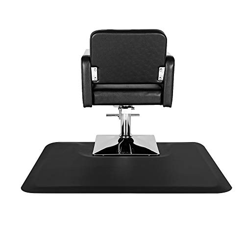 Henf 3′x 4′x1/2' Thick Salon Anti Fatigue Mat for Hair Stylist, Square Comfort Barber Shop Beauty Floor Mats Under Styling Chair(Square-1)