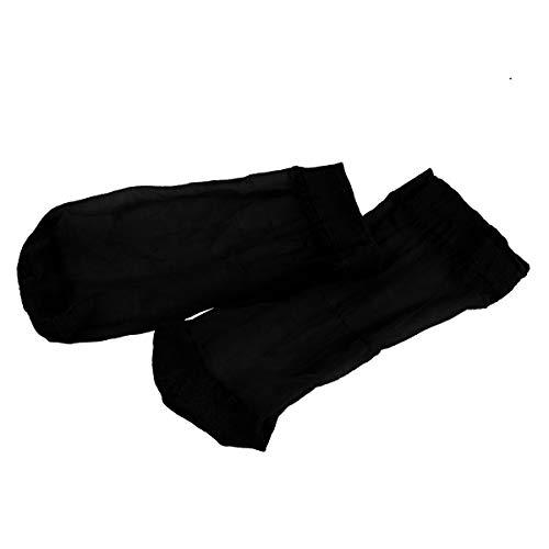 iiniim Calcetines Verano Lino-Algodón Hombre Calcetines Cortos Calcetines Finos de Verano Antibacterianos Respirables Sensación de Seda Ultra Delgado Calcetines Negro One Size