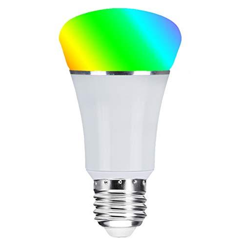 Bombilla Inteligente Bombillas LED Wifi Compatible Con Amazon Alexa Echo Google Home E27 7W Equivalente 60W No Se Requiere Hub Luz Blanca Cálida Regulable 2700K (Paquete De 4)