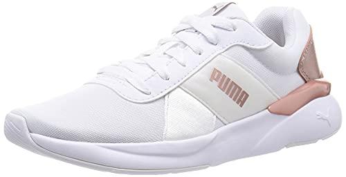 PUMA Rose Metallic Pop, Zapatillas Mujer, Blanco, 38 EU