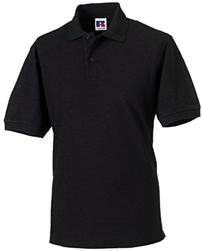 Russell Collection r-599m-0 Poloshirt aus robustem Baumwollmischgewebe bis Größe 4XL XXXX-Large Noir - noir