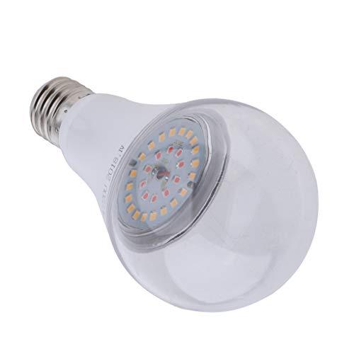 Fenteer E27 LED Pflanzenlampe Pflanzen Licht Lampe Sonnenlicht Pflanzenleuchte für Garten Gewächshaus Zimmerpflanzen - Warmes Weiß_15W