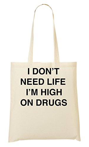 C+P I Don'T Need Life I'M High On Drugs draagtas boodschappentas