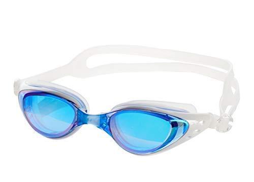 Aquazone Adjustable Swimming Goggles Premium UV 400 Protection-Anti Fog Swim Goggles-Free Case-Great Adult, Men's, Women's, Youth, Kid's or Child Swim Goggles (Ultramarine)