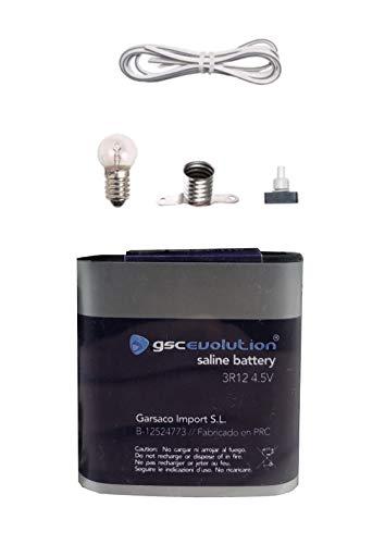 buenos comparativa Kit de bricolaje escuela de electrónica, enchufe, lámpara 4V, interruptor, batería, 1… y opiniones de 2021