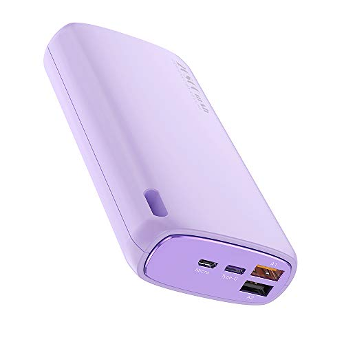 TreeLeaff Power Bank 20000mAh Compact Portable Charger QC3.0+PD3.0 Fast Charge Battery Pack High-Capacity External Battery compatible with iPhone 11 Pro iPad, Samsung and More