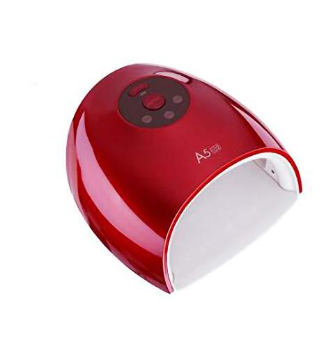 AIYIFU Lámparas LED UV para Uñas para Esmalte de Uñas en Gel, Lámpara de Curado para Secador de Uñas Blanqueador Máquina Secadora de Esmalte de Uñas de 48W, Luz de Uñas con 3 Temporizadores,Red