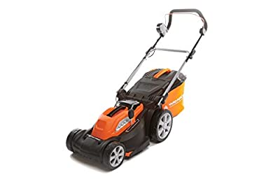 Yard Force 40V 34 cm Cordless Lawnmower with Lithium Ion Battery and Quick Charger LM G34 from Sumec