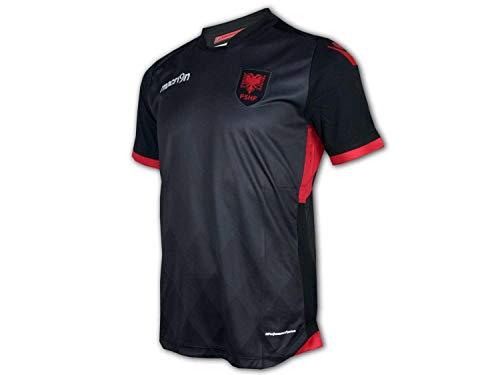 Macron Albanien Ausweich Trikot 16 FSHF 3rd Shirt EM 16 WM 18 Fan Jersey Albania, Größe:XXL
