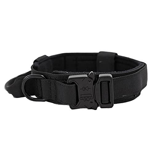 otutun Collar para Perros, Collares Tácticos para Perros Ancho Collar de Perro con Hebilla Fácil Collares para Perros Nylon Fuerte Militar Ajustable Collar de Perro para Perros Medianos o Grandes (L)