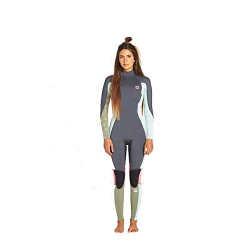 Billabong Junior Meisjes Furnace Synergy 3/2mm Back Zip Flatlock Wetsuit Seafoam - Thermal Warm hittelaag Lagen Quick Dry