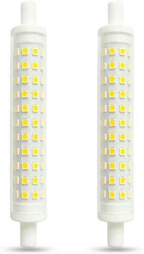R7S LED 118mm Stablampen 12W, Warmweiß 3000K, Ersatz für R7S J118 100W-120W Halogenstab, 1200LM, 360-Grad-Beleuchtung, Nicht Dimmbar, R7S 118mm Lampen als für Baustrahler/Deckenstrahler, 2er-Set