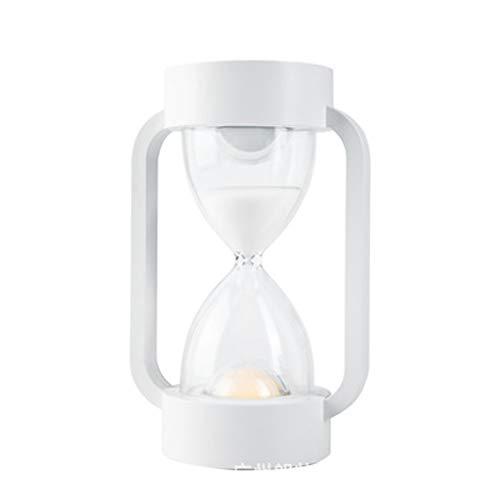 Zandloper met schijnwerende tafellamp, werklamp, kleur met gravuresensor, tafellamp voor slaapkamer