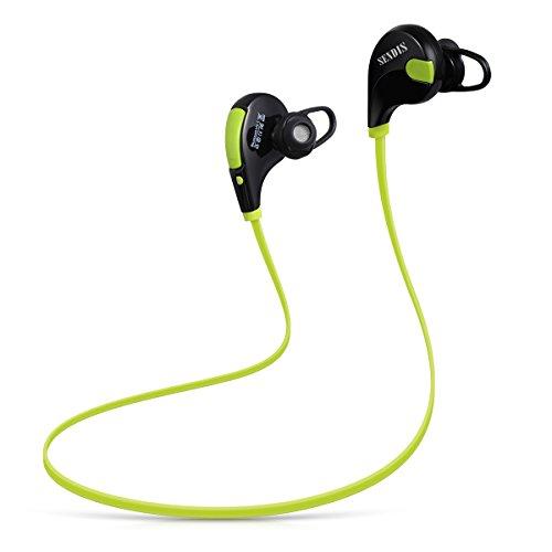 SENDIS Auricolare Wireless Bluetooth 4.1 Cuffia Stereo Headset Impermeabile Sport In-Ear con Microfono per Apple iPhone, Samsung, Bluetooth-enabled Tablets e gli altri Smartphones (Verde e Nero)