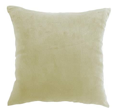 Daim Housse de coussin Housse de coussin avec fermeture éclair en 2 tailles et 6 couleurs, 100 % polyester, taupe, 50 x 50 cm