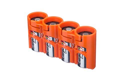 PowerPax Rangement Rayovac Étui pour piles CR123 Lot de 4 Orange