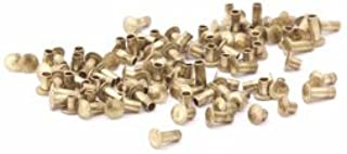 3//16 X 3//4 Solid Brass Round Head Rivet.335 Head Dia.140 Head Height, Pack of 1//2 LB - Approximately 55 Pieces