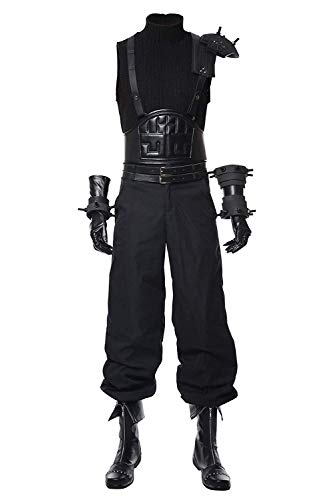 Mesodyn Adult Final Fantasy VII Remake Cloud Strife Costume Halloween Cosplay Suit XX-Large