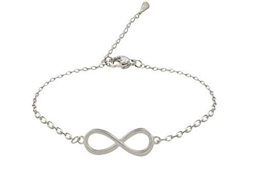 SoulSisters Lieblingsschmuck Infinity Armband in Silber mit Doppel-Acht Symbol als Zeichen der Unendlichkeit