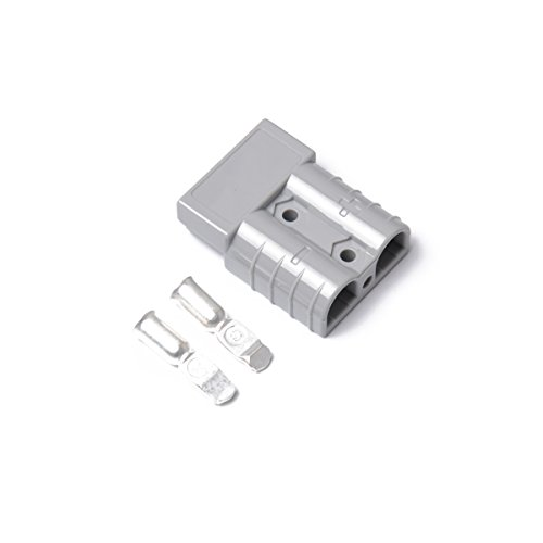 Vosarea 10 pcs 50 A 600 V Premium Plug extérieur connecteur d'alimentation DC caravane solaire avec 20 contacts (Gris)