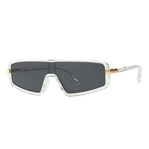 YUANCHENG Flat Top Models Herren Vintage Classic Schwarz Cat Eye Sonnenbrille UV400 6