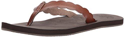 Reef Women's Sandals Cushion Celiene | Water Friendly Flip Fop, Rust, 5