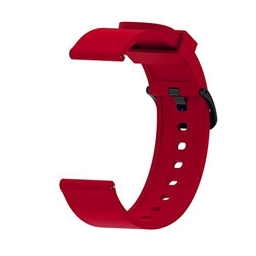 Silicone Sport Watch Band para Xiaomi Huami Amazfit BIP Watch Active Smart Watch Strap 20mm Watch Reemplazo Nueva Correa (Color : Red)