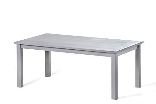 hagge home Couchtisch Kaffeetisch Sofatisch Wohnzimmertisch Beistelltisch Holztisch Fernsehtisch Schlafzimmer Massivholz, kompaktisch,praktisch Tisch, 110x60 cm, Höhe 45 cm, Grau
