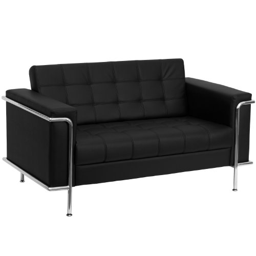 Flash Furniture Black Leather Loveseat