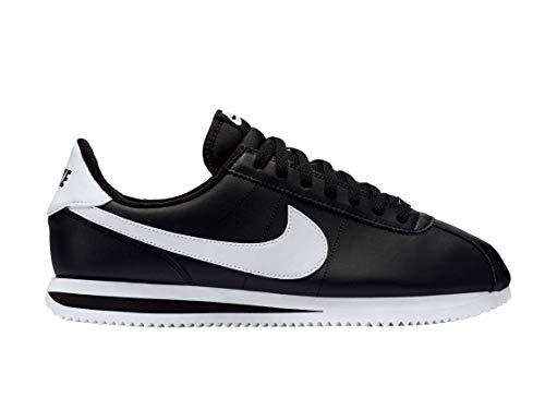 Nike Men's Cortez Basic Leather Shoe, Chaussures de Trail Homme, Multicolore (Black/White-Metallic...
