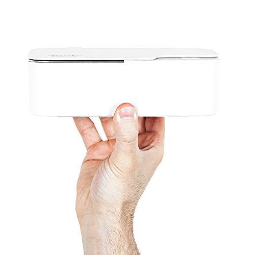 Design Ultraschallreinigungsgerät/Ultraschallgerät 450ml – Ultraschallreiniger für Brillen & Schmuck inkl. Konzentrat (Weiß)