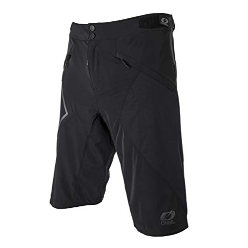 O'Neal | Pantalones de Ciclismo de montaña | MTB Downhill Freeride | Material Impermeable, poliéster, Bolsillo Lateral con Cremallera | Mud WP Shorts | Adultos | Negro | Talla 38/54