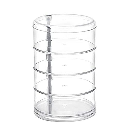 Chuanhao Jewelry Storage Box a 4 strati in acrilico, con supporto per orecchini a forma di anello per cosmetici, contenitore trasparente