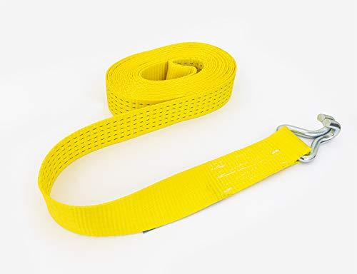 Petex 43193819 Spanngurt ohne Ratsche 1-teilig, 11,6 m, 50 mm, 2500/5000 daN, Doppelspitzhaken, gelb