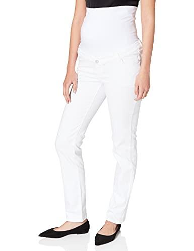 Esprit Maternity Pants Denim OTB Straight Jeans, Blanco Brillante – 101, 38W x 32L para Mujer