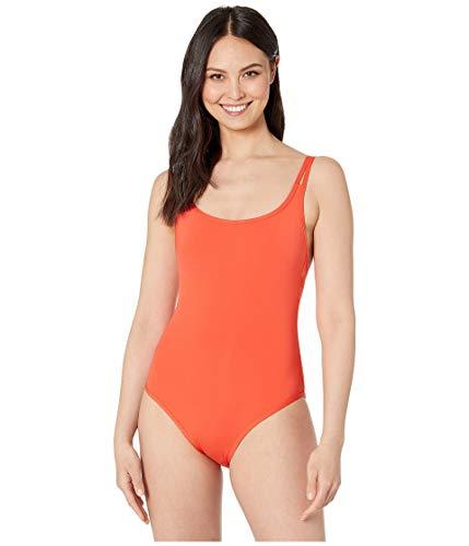 Jets by Jessika Allen Women's Jetset Double-Strap One Piece Swimsuit with Shelf Bra Tangelo Size US 4