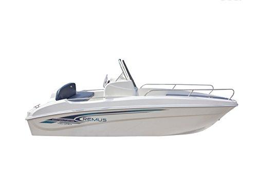 Unbekannt Sportboot Bootsoutlet Boot Remus 450 open Angelboot 15PS mit Hafenplane Führerscheinfrei
