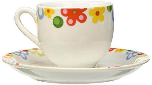 Tognana Capri Monterosso Set Confezione Tazze Caffe, Porcellana, 4 Pezzi, Bianco