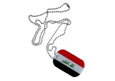 Dog Tag Irak 2009 - 3 x 5 cm