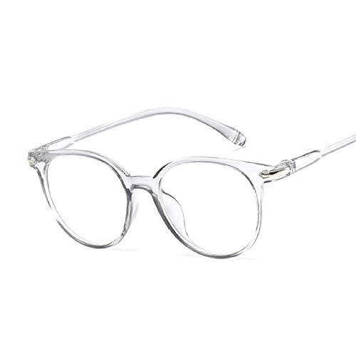whcct Gafas de sol transparentes vintage para mujer Gafas de sol con montura ovalada retro Gafas azules para mujer
