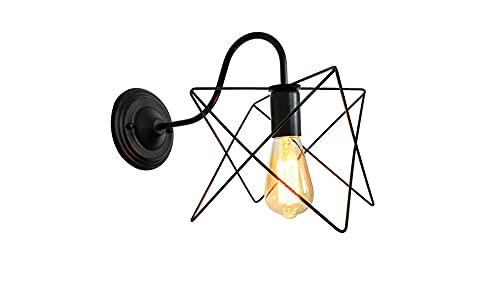 YZAIBB Lámpara de pared industrial rústica E26, lámpara de pared de granja, iluminación vintage de apliques, estilo rústico, lámparas de pared para baño, sala de estar, cocina