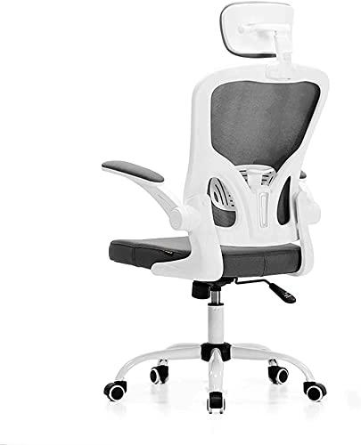 HZYDD Silla de Oficina, Silla de Escritorio de Malla ergonómica con Alta Espalda con reposabrazos y reposacabezas Ajustables, sillas giratorias ejecutivas-Rosa 61x33x57cm